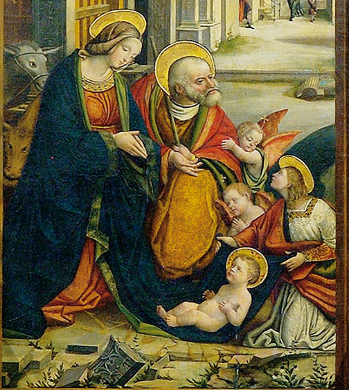 Buttigliera Alta, Sant'Antonio di Ranverso, Polittico della Natività, (particolare), Defendente Ferrari