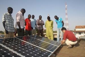 Gli esperti di Etica nel Sole durante un corso di formazione in Senegal