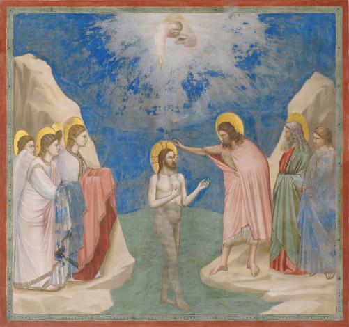 Battesimo di Cristo, Giotto, Cappella degli Scrovegni, Padova