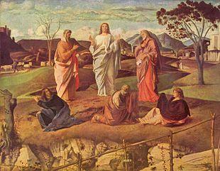 Giovanni Bellini, Trasfigurazione di Cristo, Galleria Nazionale di Capodimonte (Napoli)