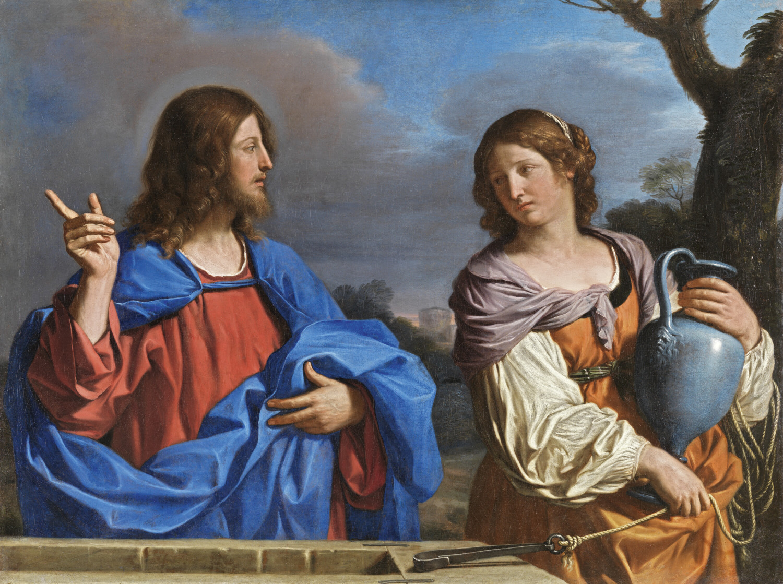 Gesù e la samaritana, Guercino, Museo Nacional Thyssen-Bornemisza, Madrid