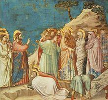 Resurrezione di Lazzaro, Giotto, Cappella degli Scrovegni, Padova