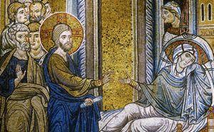 Cristo guarisce la suocera di Pietro (Duomo di Monreale)
