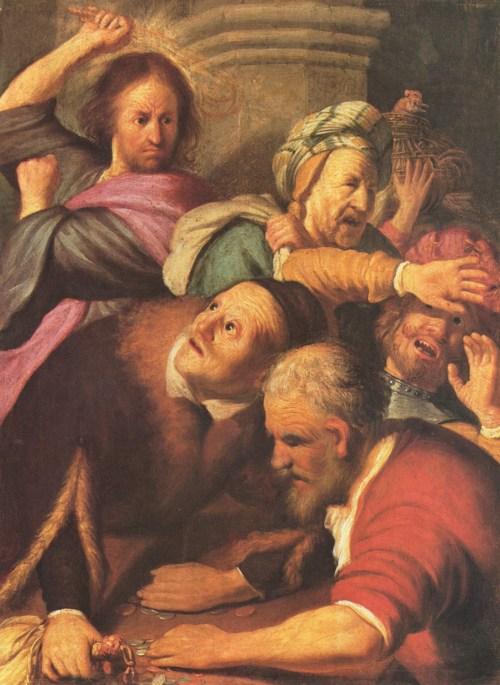 Cristo scaccia i mercanti dal tempio (Harmenszoon van Rijn Rembrandt, The Pushkin Museum of Fine Art, Mosca)