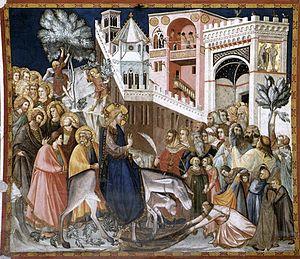 Pietro Lorenzetti, Ingresso di Cristo a Gerusalemme, Basilica Inferiore di San Francesco, Assisi