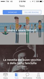 L'app Betwill per il social reading