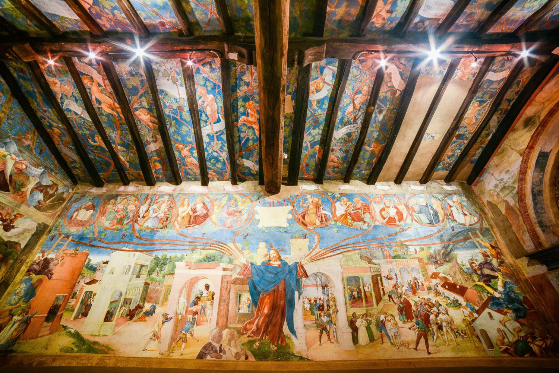 Cristo-vite, Lorenzo Lotto, Cappella Suardi, Trescore Balneario (BG)