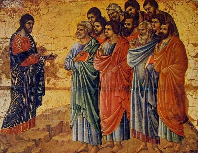 Duccio di Buoninsegna,  L'Apparizione di Cristo sul monte della Galilea, Museo dell'Opera del Duomo, Siena
